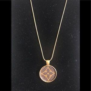 Louis Vuitton Brown Flower on Gold Chain